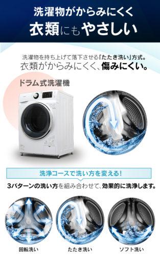 アイリスオーヤマ FL71-w/w 洗浄コース
