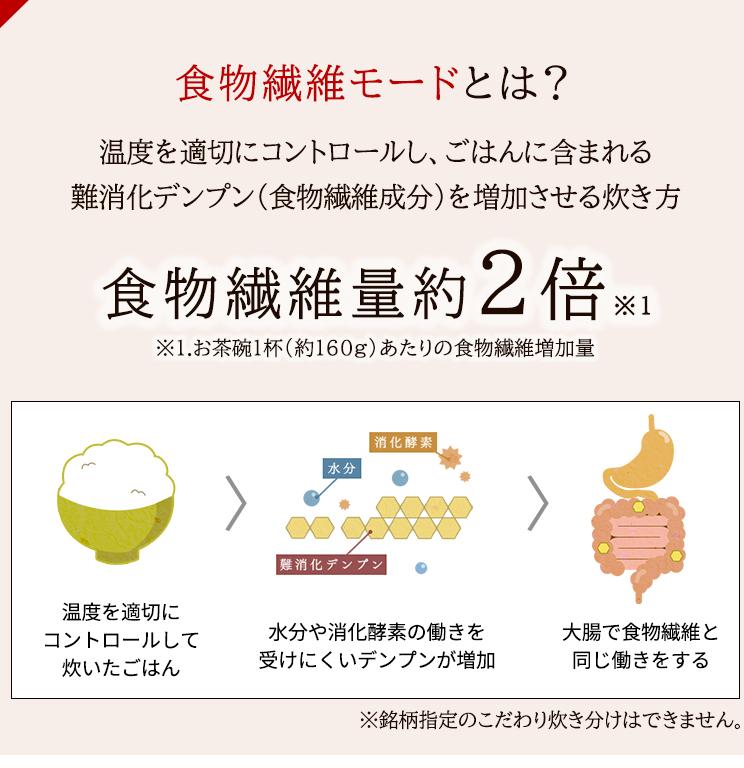 アイリスオーヤマ KRC-PD30-T 食物繊維米