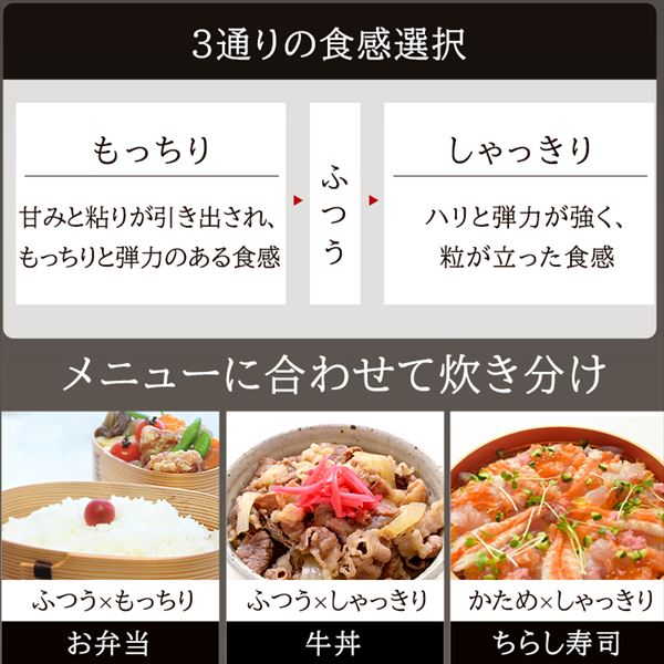 アイリスオーヤマ KRC-PD30-T 食感